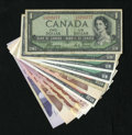 Canadian Currency: , Canadian Grouping With BC-55b AUH Prefix.. ... (Total: 11)