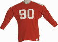 Football Collectibles:Uniforms, 1964 Dave Wilcox Hula Bowl Game Worn Jersey from the Dave Wilcox Collection. What college kid would pass up a chance at a f...