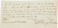 "Autographs:U.S. Presidents, William Henry Harrison Check Signed, 7.75"" x 3.75"", November 21,1810, Vincennes [Indiana]. This early check, signed by Harr..."