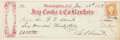 "Autographs:U.S. Presidents, Ulysses S. Grant Check Signed ""U. S. Grant"" Partly printed,8"" x 2.75"", January 19, 1867, to Grant's brother-in-law Brig..."