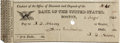 "Autographs:U.S. Presidents, John Quincy Adams Check Twice Signed ""J. Q. Adams"". Partlyprinted, 6"" x 2.25"", August 3. 1830 (less than two years afte..."