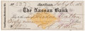 "Autographs:U.S. Presidents, Chester A. Arthur Check Signed ""C. A. Arthur"". Partly printed, 7.25"" x 2.5"", February 6, 1878, drawn on the Nassau Bank ..."