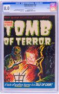 Golden Age (1938-1955):Horror, Tomb of Terror #12 File Copy (Harvey, 1953) CGC VF 8.0 Cream tooff-white pages....