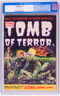 Golden Age (1938-1955):Horror, Tomb of Terror #16 File Copy (Harvey, 1954) CGC VF/NM 9.0 Light tanto off-white pages....