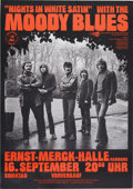 Music Memorabilia:Posters, Moody Blues Ernst Menck Hall Hamburg Concert Poster (Mama Concerts,1973)....