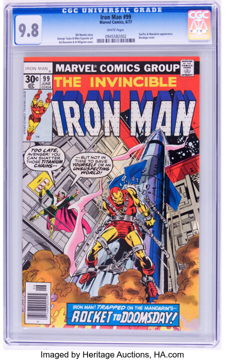 Iron Man #99 (Marvel, 1977) CGC NM/MT 9.8 White pages....