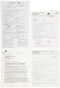 Movie/TV Memorabilia:Autographs and Signed Items, Chevy Chase and Other Comedians Signed TV Contracts.... (Total: 4 )