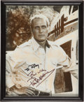 Movie/TV Memorabilia:Autographs and Signed Items, Paul Newman Signed Photo....