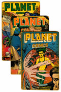 Golden Age (1938-1955):Science Fiction, Planet Comics Group (Fiction House, 1947-50) Condition: AverageFR.... (Total: 10 Comic Books)
