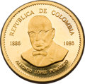 Colombia, Colombia: Republic gold 40,000 Pesos 1986,...