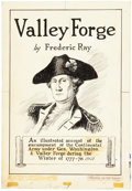 Original Comic Art:Splash Pages, Fred Ray Valley Forge George Washington Title Page 1Illustration Original Art (Ray, 1951)....