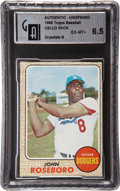 Baseball Collectibles:Others, 1968 Topps Baseball Cello Pack with HoFer Don Drysdale Showing-B GAI-Graded. ...