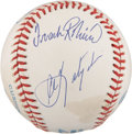 Autographs:Baseballs, 1980's Triple Crown Winners (4) Multi-Signed Baseball....