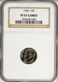 Proof Roosevelt Dimes: , 1960 10C PR67 Cameo NGC. NGC Census: (3/1). PCGS Population(202/319). Numismedia Wsl. Price for NGC/PCGS coin in PR67: $2...