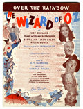 "Memorabilia:Movie-Related, Wizard of Oz ""Over the Rainbow"" Sheet Music (Leo Feist,Inc., 1939) Condition: FN/VF...."