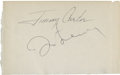 Music Memorabilia:Autographs and Signed Items, Beatles Related - John Lennon and Jimmy Carter Autographs....