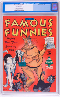 Famous Funnies #114 (Eastern Color, 1944) CGC VF/NM 9.0 Cream to off-white pages