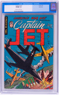Golden Age (1938-1955):War, Captain Jet #1 Bethlehem (Four Star/Farrell/Comic Media, 1952) CGCVF/NM 9.0 Off-white to white pages....
