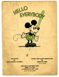 Platinum Age (1897-1937):Miscellaneous, Mickey Mouse Book Later printing (Bibo & Lang, 1931) Condition:PR....