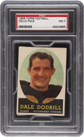 Football Cards:Singles (1950-1959), 1958 Topps Football Unopened Cello Pack-Unitas on back PSA NM 7....