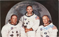 Autographs:Celebrities, Apollo 11 Crew-Signed Large Color Postcard....