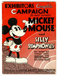 Mickey Mouse Silly Symphonies Exhibitors Campaign Book (United Artists Corp., 1932) Condition: VG+