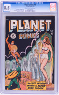 Golden Age (1938-1955):Science Fiction, Planet Comics #56 (Fiction House, 1948) CGC VF+ 8.5 Cream tooff-white pages....