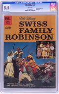 Silver Age (1956-1969):Adventure, Four Color #1156 Swiss Family Robinson (Dell, 1960) CGC VF+ 8.5 White pages....