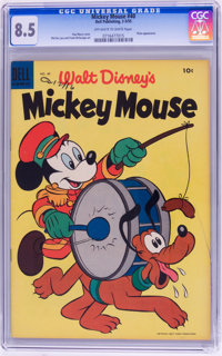 Mickey Mouse #40 (Dell, 1955) CGC VF+ 8.5 Off-white to white pages