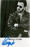Music Memorabilia:Autographs and Signed Items, Beatles Related - Ringo Starr Signed Photo....