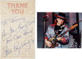 Music Memorabilia:Autographs and Signed Items, Stevie Ray Vaughan Autograph....