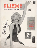 Movie/TV Memorabilia:Autographs and Signed Items, Hugh Hefner Signed Copy of First Issue of PlayboyMagazine....