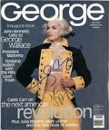 Movie/TV Memorabilia:Autographs and Signed Items, John F. Kennedy Jr. and Cindy Crawford Signed Copy ofGeorge....