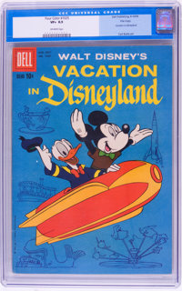 Four Color #1025 Vacation in Disneyland - File Copy (Dell, 1959) CGC VF+ 8.5 Off-white pages