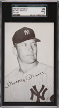 Baseball Cards:Singles (1940-1949), 1947-1966 Exhibits Mickey Mantle, Portrait SGC 96 Mint 9....