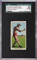 Boxing Cards:General, 1910 T229 Pet Cigarette Battling Nelson SGC 80 EX/NM 6....