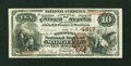 National Bank Notes:Wisconsin, Milwaukee, WI - $10 1882 Brown Back Fr. 485 The Wisconsin NB Ch. # 4817. ...