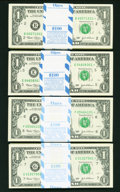 Fr. 1928-B*, E*, Fr. 1929-F*,G* $1 2003 Federal Reserve Notes. Original Packs of 100. Gem Crisp Uncirculated