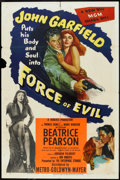 "Movie Posters:Crime, Force of Evil (MGM, 1948). One Sheet (27"" X 41""). Crime.. ..."