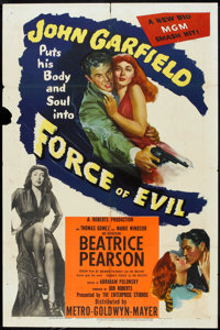 """Force of Evil (MGM, 1948). One Sheet (27"""" X 41""""). Crime"""