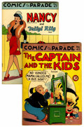 """Golden Age (1938-1955):Miscellaneous, Comics On Parade #40 and 47 Davis Crippen (""""D"""" Copy) Pedigree Group (United Features Syndicate, 1943).... (Total: 2 Comic Books)"""