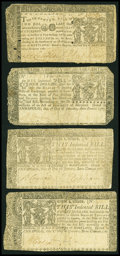 Colonial Notes:Maryland, Four Maryland Notes.. ... (Total: 4 notes)