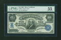 Large Size:Silver Certificates, Fr. 302 $10 1908 Silver Certificate PMG About Uncirculated 55....