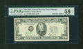 Error Notes:Foldovers, Fr. 2075-G $20 1985 Federal Reserve Note. PMG Choice About Unc 58EPQ.. ...