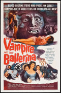 "Movie Posters:Horror, The Vampire and the Ballerina (United Artists, 1962). One Sheet(27"" X 41""). Horror.. ..."