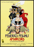 "Movie Posters:Comedy, Amarcord (Warner Brothers, 1974). German A1 (23"" X 33""). Comedy.. ..."