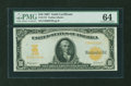 Large Size:Gold Certificates, Fr. 1172 $10 1907 Gold Certificate PMG Choice Uncirculated 64....