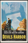 "Movie Posters:Crime, Devil's Harbor (20th Century Fox, 1954). One Sheet (27"" X 41""). Crime.. ..."