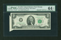 Error Notes:Foldovers, Fr. 1935-G $2 1976 Federal Reserve Note. PMG Choice Uncirculated 64EPQ.. ...