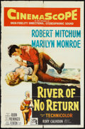 "Movie Posters:Adventure, River of No Return (20th Century Fox, 1954). One Sheet (27"" X 41"").Adventure.. ..."